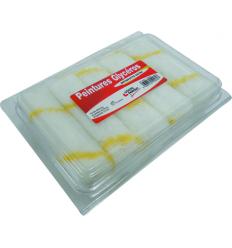 10 mini-rouleaux antigoutte rayé jaune