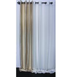 voilage effet lin amazing beautiful petits voilages vitrages effet lin parement haut fantaisie. Black Bedroom Furniture Sets. Home Design Ideas