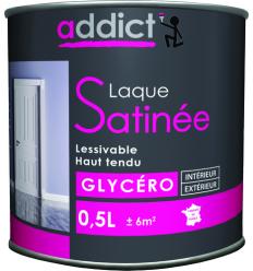ADDICT LAQUE SATINEE - BLANC