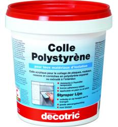 Colle pour polystyrène expansé ou extrudé intérieur - 1kg - 4kg ou 8kg