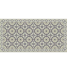 Tapis motif carreaux de ciment style carreau de ciment - Tapis pvc carreaux de ciment ...